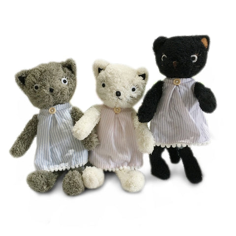 Kawaii Cats Plush Dressing Dolls