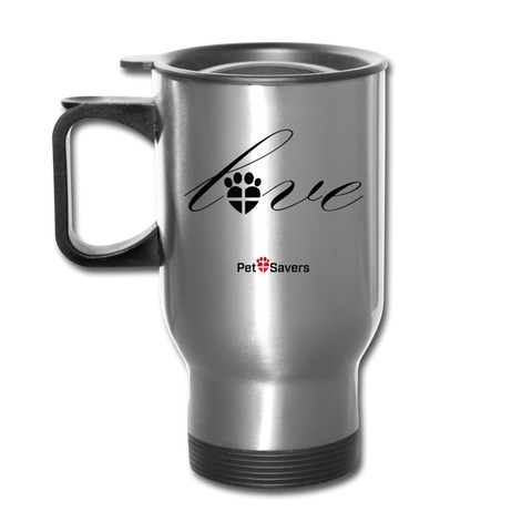 Paw Love Travel Mug 14 oz - silver