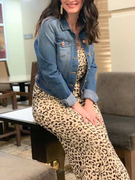 Leopard Strappy Jumpsuit