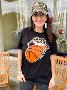Leopard Basketball Graphic Tee