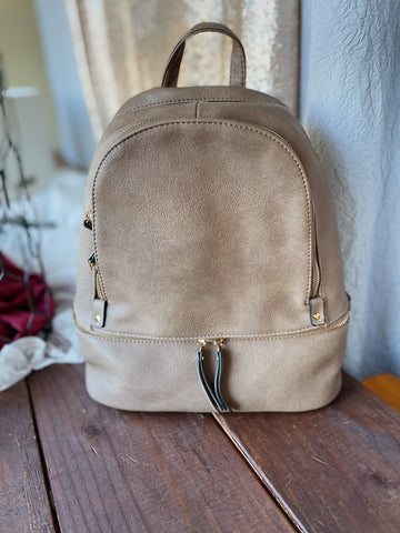 Clay Backpack Purse