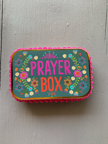 Natural Life Purple Floral Prayer Box