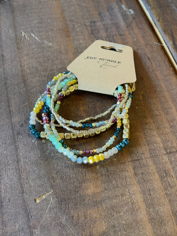 Jewel Tone Beaded Bracelets