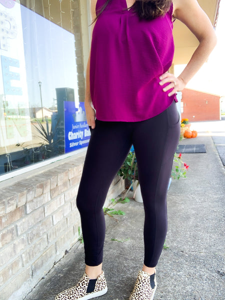 Black Butter Leggings w/ Phone Pocket