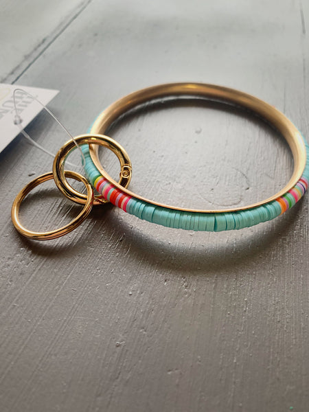 Bright Multi-Color Keychain Bracelet