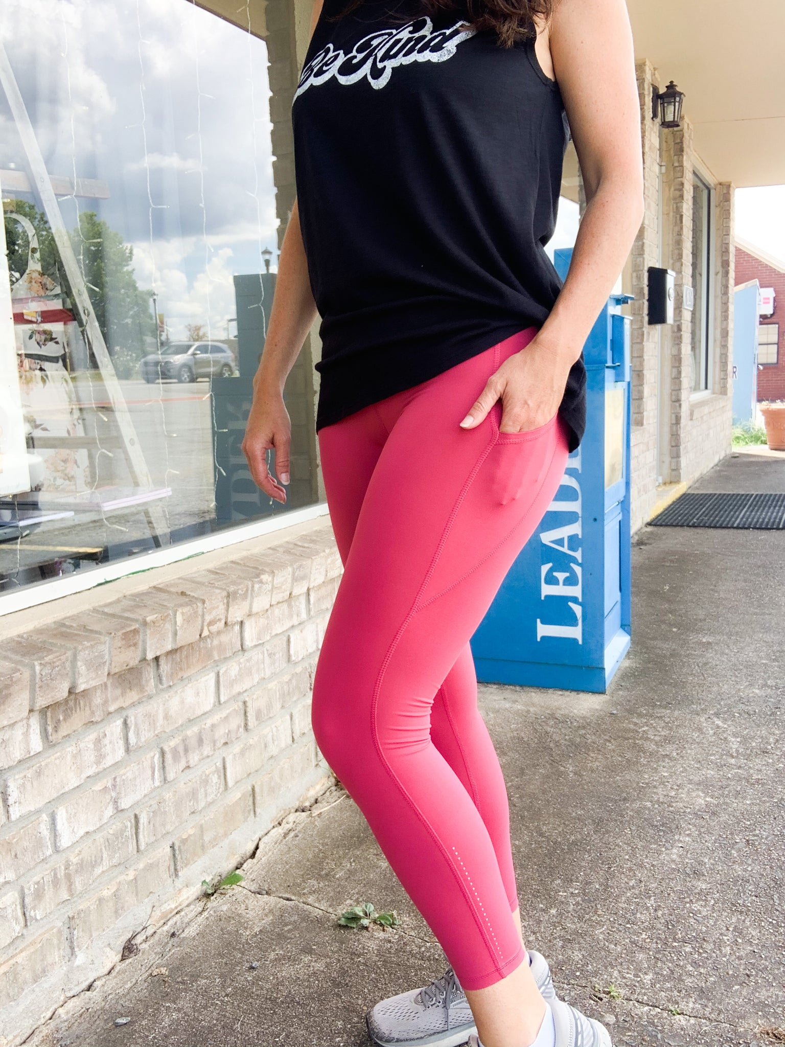 Coral Butter Leggings w/ Phone Pocket