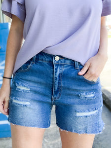 Mid rise Cut Off Shorts