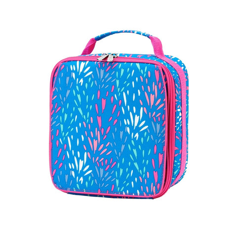 Blue and Pink Abstract Lunchbox