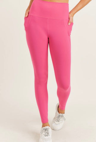 Hot Pink Essential Pocket Leggings