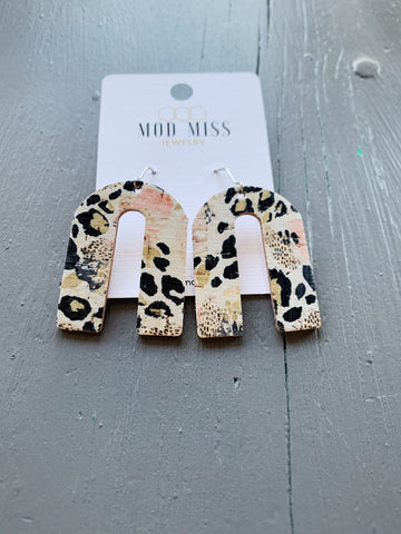 Mix Print Arch Shaped Earrings
