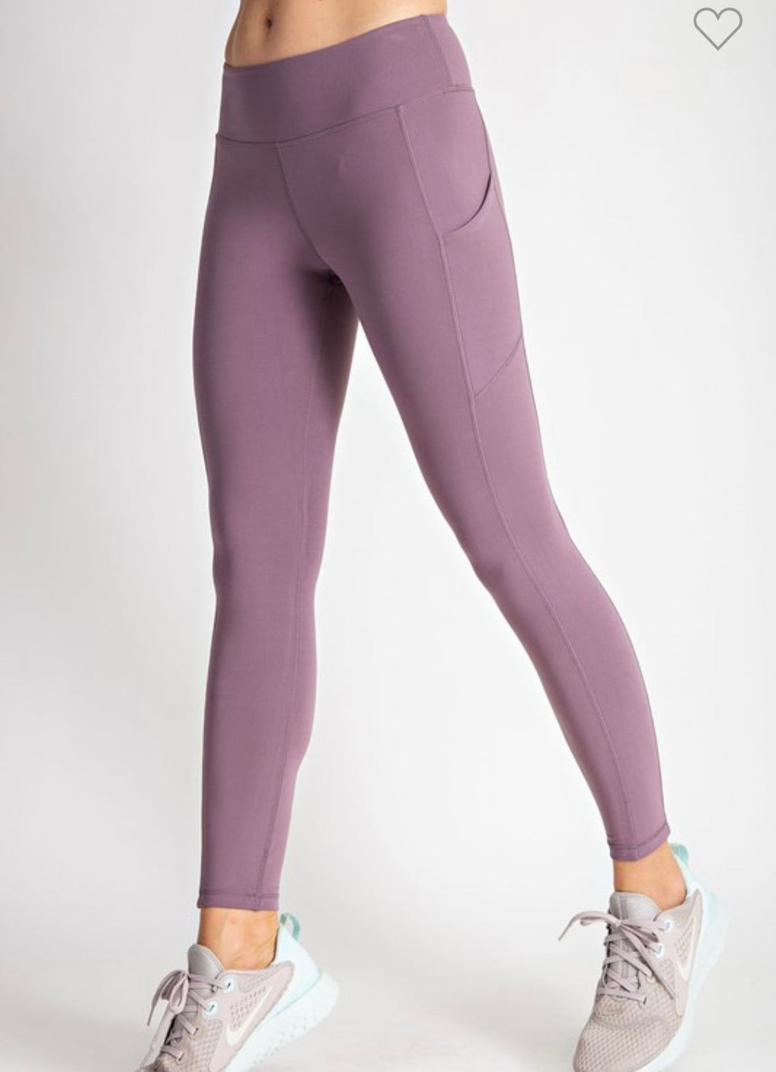 Lilac Grey Butter Leggings w/ Phone Pocket