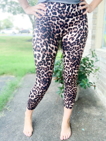 Brown Leopard Butter Leggings