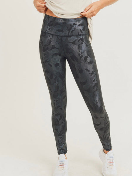 Camo Holographic Foil Leggings