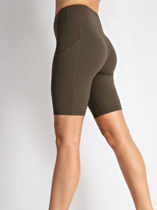 Olive Butter Bike Shorts