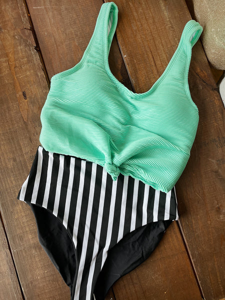Mint Knotted Swim Top