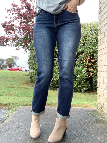 Judy Blue Dark Denim with Ankle Cuff