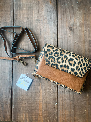 Brown Leopard Wallet/Crossbody