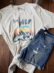 Stay Wild Sunset Graphic Tee