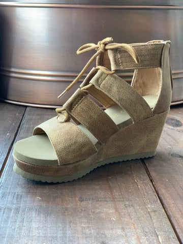 Brown Gladiator Wedge