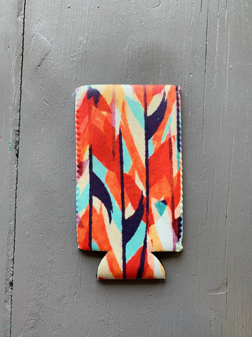 Orange Abstract Slim Can Sleeve