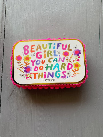 Natural Life Beautiful Girl Prayer Box