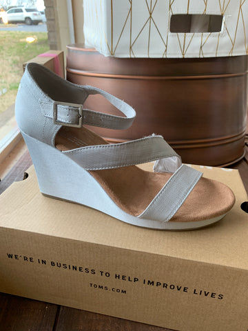 Silver Clarissa Tom Wedge