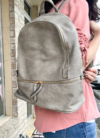 Grey Backpack Purse
