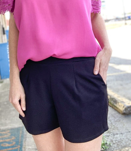 Black Modern Blazer Shorts