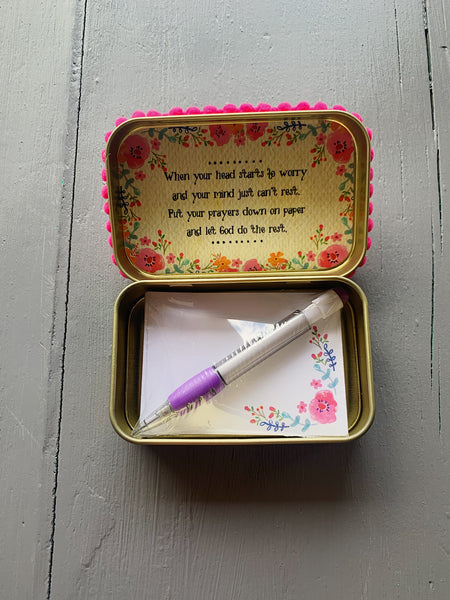 Natural Life Pink Floral Prayer Box