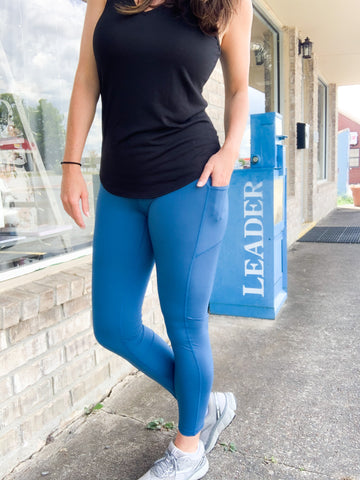 Teal Butter Leggings