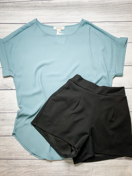 Basic Short Sleeve Blouse