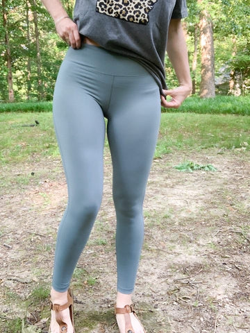 Sage Leggings with Criss-Cross Detail