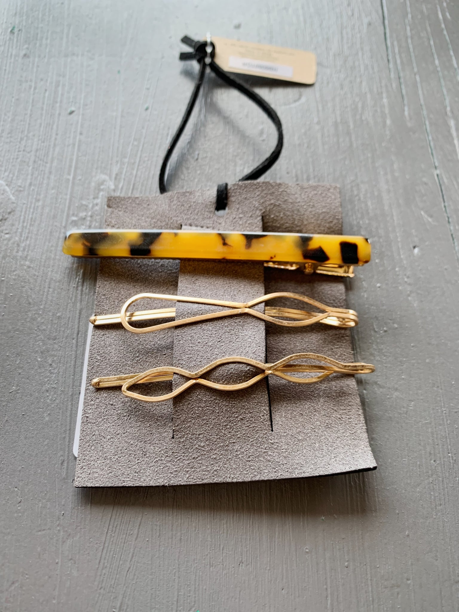 Brown Tortoise Hair Clip Set
