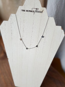 Silver Hope Letter Necklace