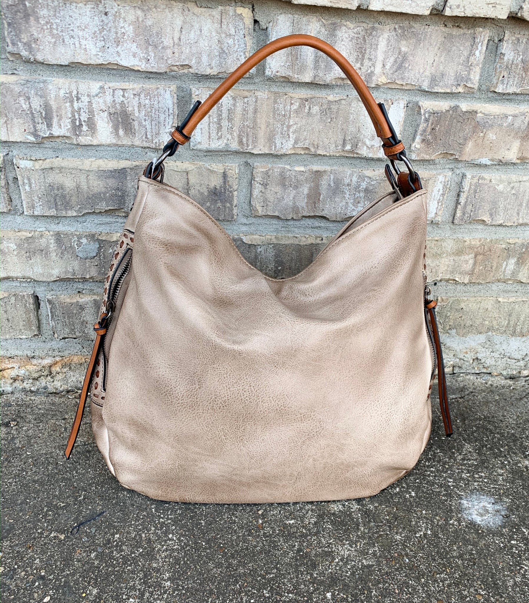 Taupe and Brown Hobo
