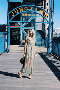 Delicate Light Olive Lace Dress