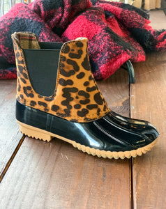 Leopard Duck Boot