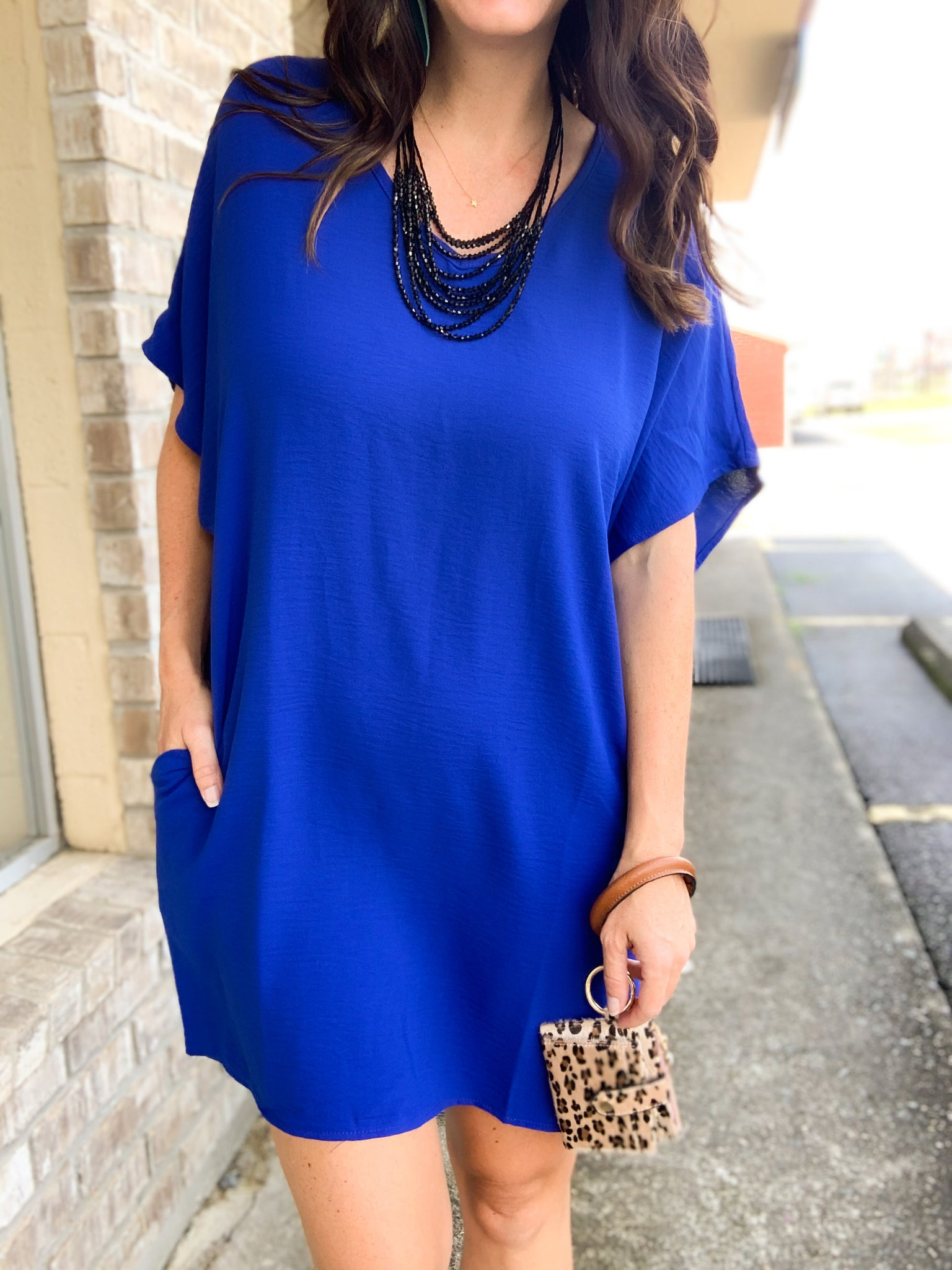 Royal Blue Slouch Tunic/Dress