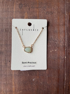 Abstract Amazonite Stone Necklace