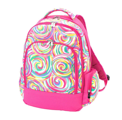 Pink Candy Swirl Backpack