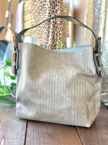 Taupe Laser-cut Purse