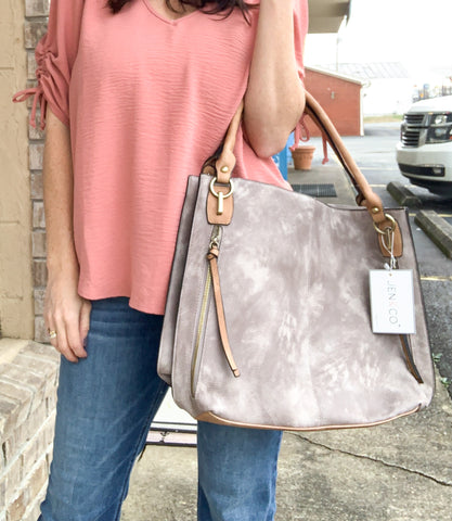 Grey and Taupe Handbag