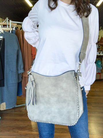 Crossbody Whipstitch Handbag