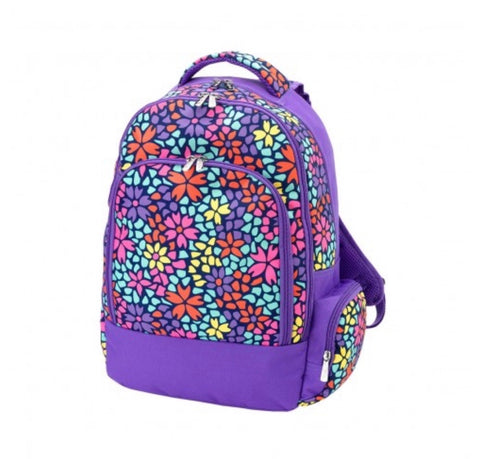 Multicolor Geo Floral Backpack