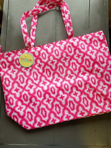 Hot Pink Mosaic Tote Bag