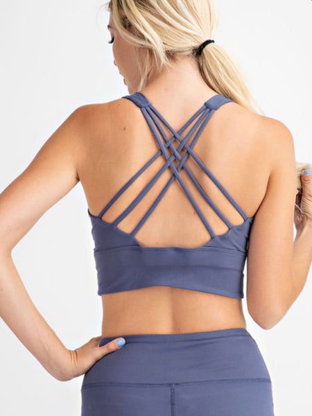 Dusty Blue Butter Sports Bra