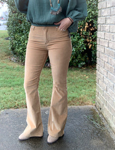 Camel Corduroy Bell Bottoms