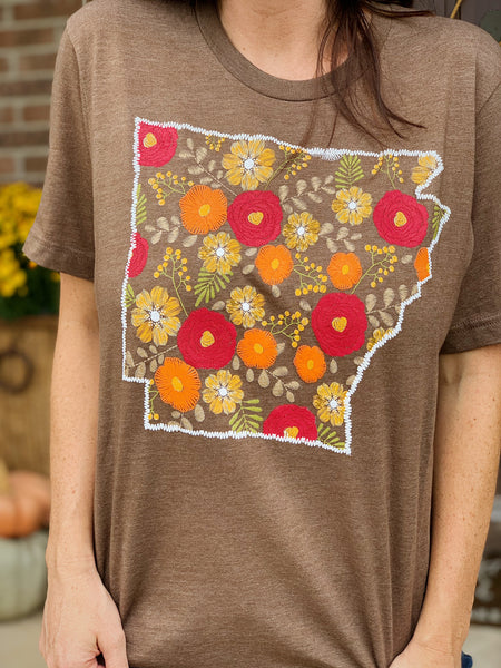 Floral Arkansas T-Shirt