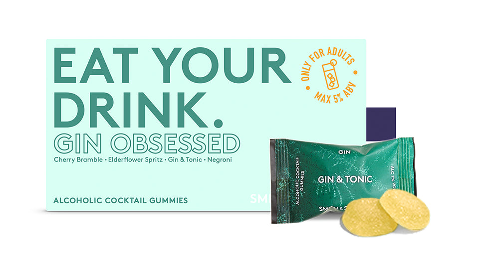 Gin Obsessed Alcoholic Cocktail Gummies