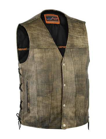 DS107 King Ranch Leather Concealed Carry Vest